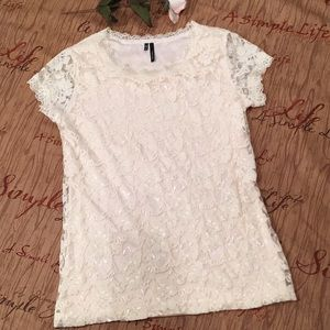 Maurices Ivory Lace Top. Size M